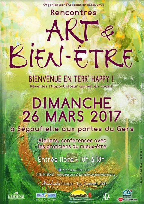 Rencontres Art & Bien-être à Ségoufielle le 26 mars 2017